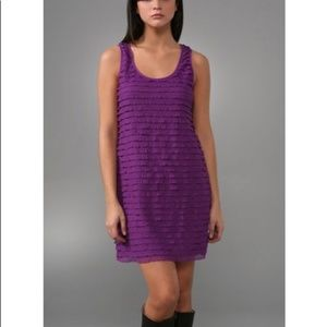 Free People Purple Ruffle Tank Dress S EUC